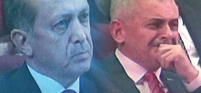 Erdoğan ve Başbakan Yıldırım ağladı