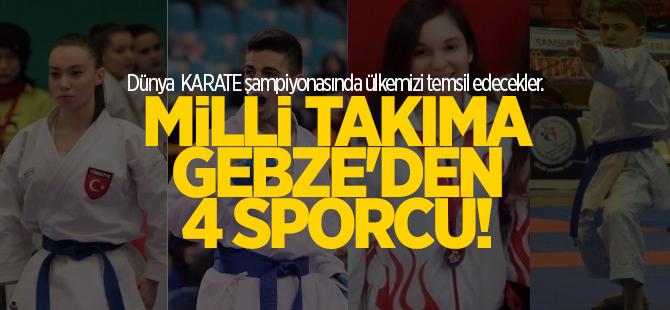 Milli takıma Gebze'den 4 sporcu
