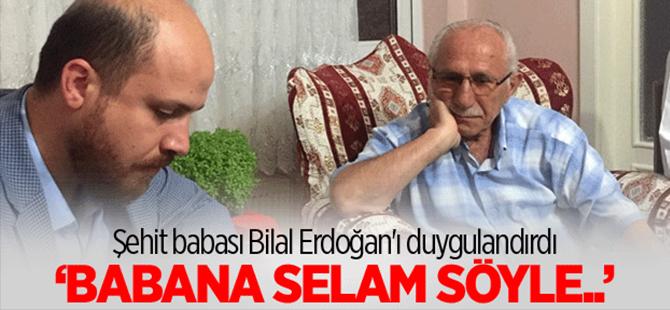Şehit babası Erdoğan'ı duygulandırdı