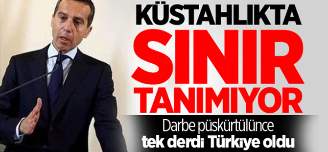 Avusturya Başbakanı'n derdi Türkiye oldu!