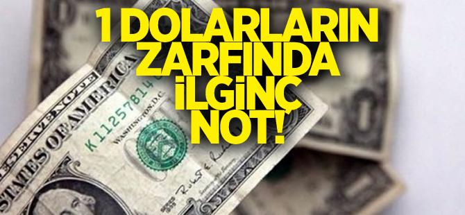 1 dolarların zarflarında ilginç not
