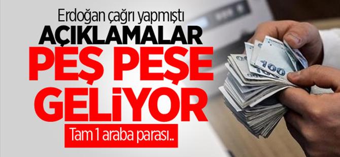 Cumhurbaşkanı Erdoğan'ın çağrısıyla tam bir araba parası cepte kaldı