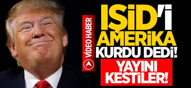 IŞİD'i Obama kurdu dedi, yayını kestiler!