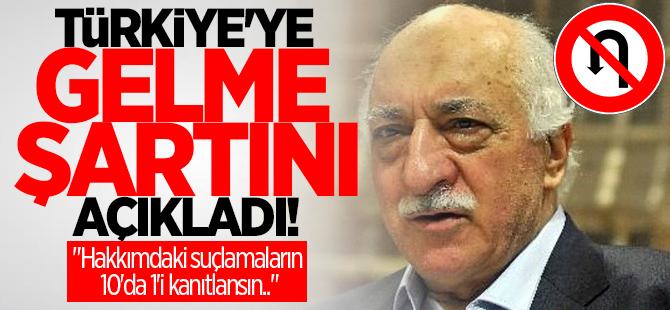 Teröristbaşı Fetullah Gülen Türkiye'ye gelme şartını açıkladı