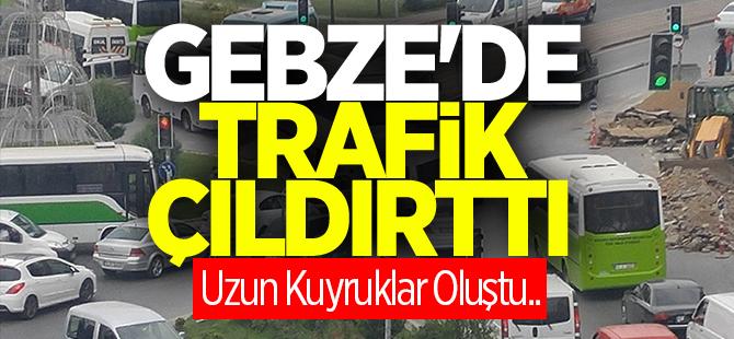 Gebze'de trafik çıldırttı