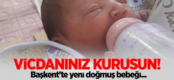 Ankara'da yeni doğmuş bebeği sokağa attılar