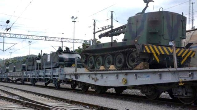 Tankların Taşındığı Tren Yola Çıktı