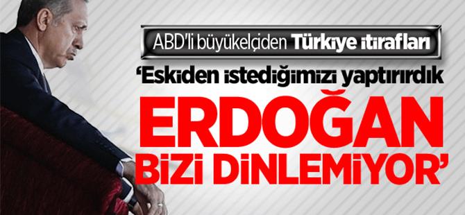 ABD'li büyükelçiden Türkiye itirafları