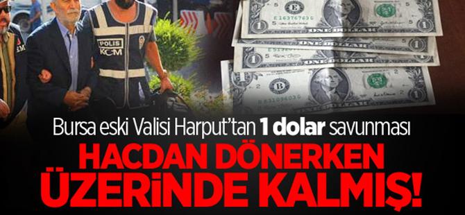 Bursa eski Valisi Harput'u 1 dolar savunması kurtaramadı