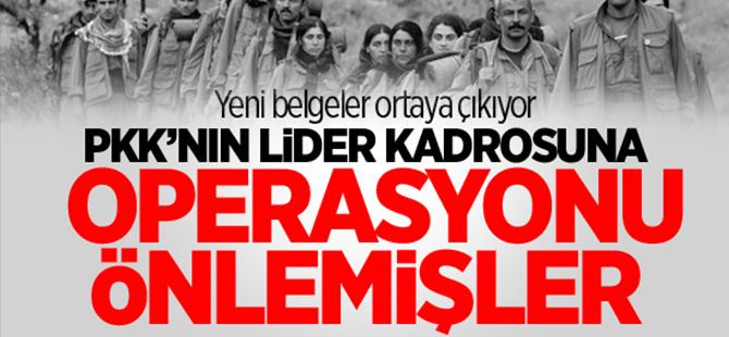PKK'nın lider kadrosuna operasyonu önlediler