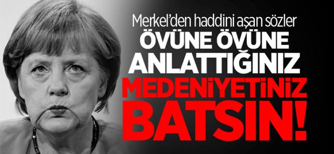 Merkel'den kapalı kadınlar için skandal sözler!