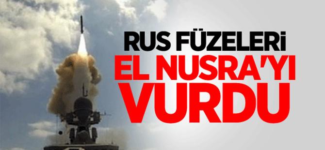 Rus füzeleri El Nusra'yı vurdu