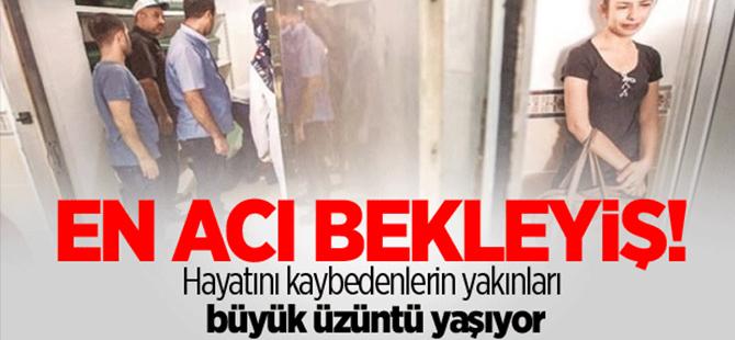 Gaziantep'te cenazeler teslim alınıyor