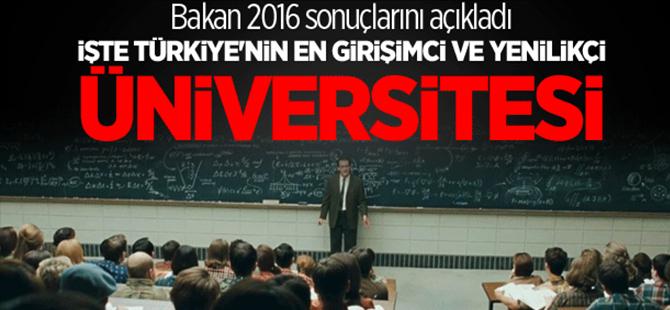 Bakan Özlü en girişimci ve yenilikçi üniversiteyi açıkladı!