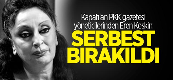 Kapatılan PKK gazetesi yöneticilerinden Eren Keskin serbest bırakıldı
