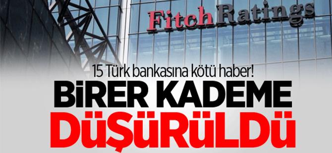 15 Türk bankasına kötü haber!