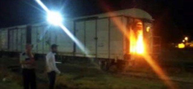 PKK'lı teröristler yük trenine saldırdı!
