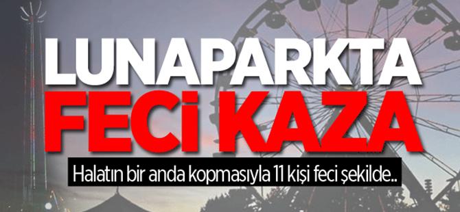 Adana'da lunaparkta kazası: 11 yaralı