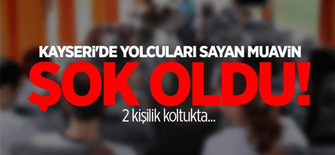 Kayseri'de 2 kişilik koltuğa 7 kişi binmek istedi