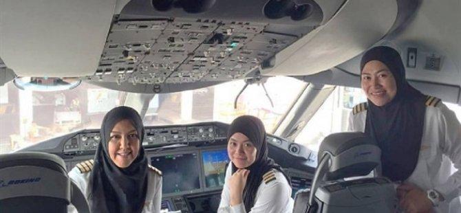 Onlar ilk tesettürlü pilotlar