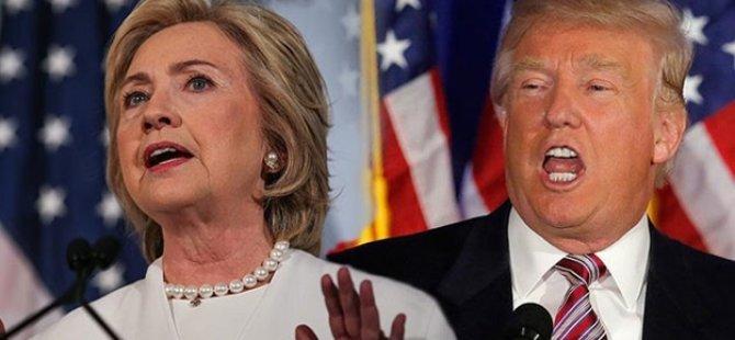 Trump, Clinton'un önüne geçti