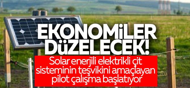 Güneş enerjili çitler üretim alanlarını koruyacak