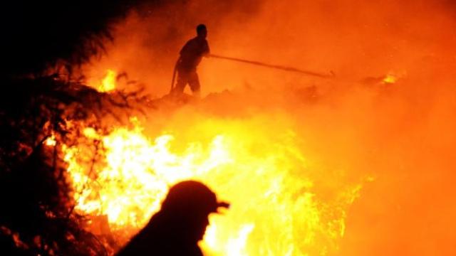 Bodrum'da Yangın Söndürülemiyor