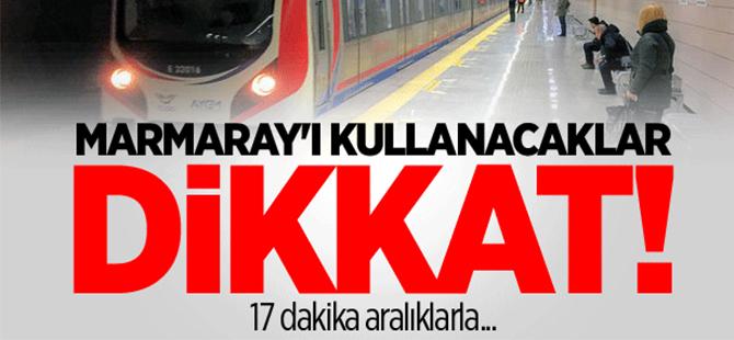 Marmaray'da teknik arıza meydana geldi!