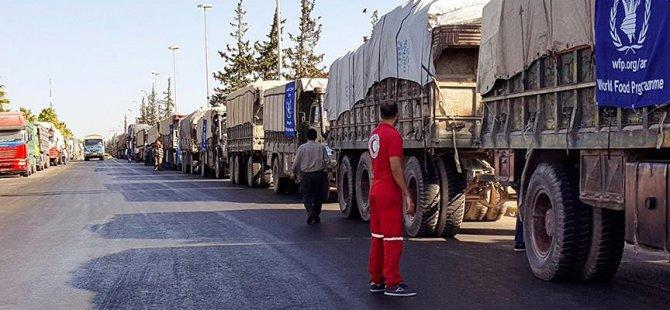 Rusya ve Esed yardım TIR'larını bombaladı