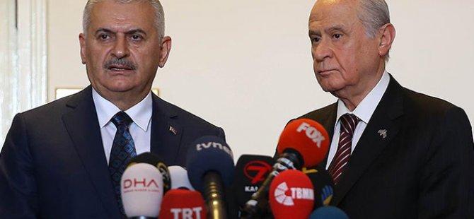 Başbakan Yıldırım ve MHP lideri Bahçeli bugün görüşmeyecek