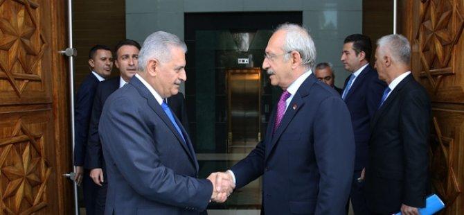Başbakan Yıldırım - Kılıçdaroğlu görüşmesi sona erdi