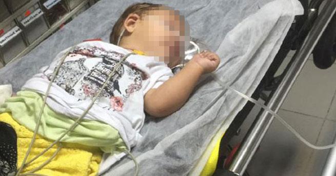 Bebek uyuşturucu komasına girdi