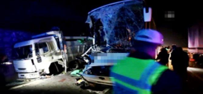 Samsun'da feci kaza! 1 ölü, 39 yaralı
