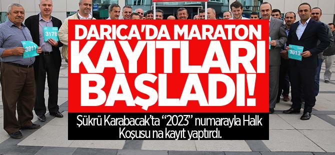 Darıca'da maraton kayıtları başladı