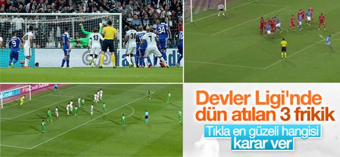 Şampiyonlar Ligi'nde gecenin frikik golleri - İZLE