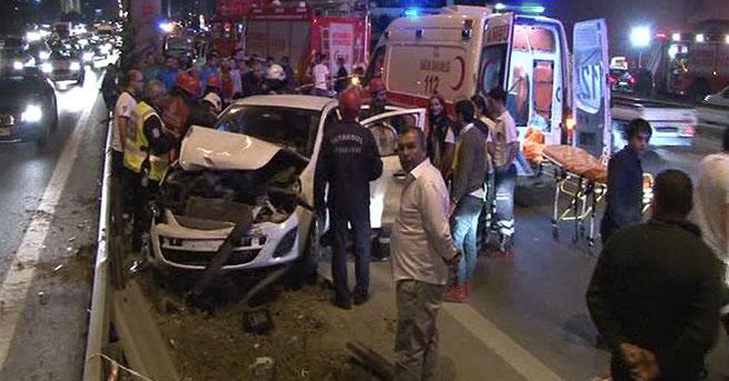 Kartal'da trafik kazası