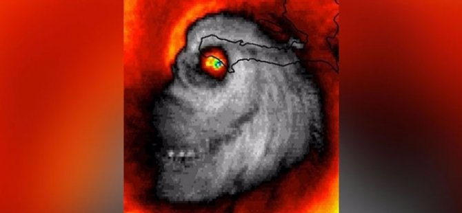 Kasırgada ortaya çıkan 'maymun kafası' şoke etti