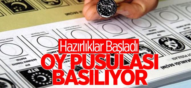Oy pusulası basımı 17 Ekim'de başlıyor