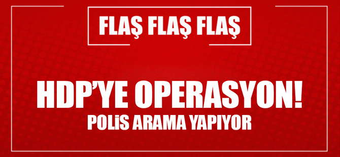 Diyarbakır'da HDP'ye operasyon