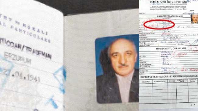 Gülen'in pasaportunda hangi meslek yazıyor