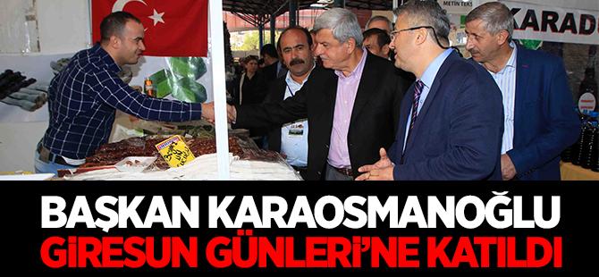 Başkan Karaosmanoğlu, Giresun Günleri'ne katıldı