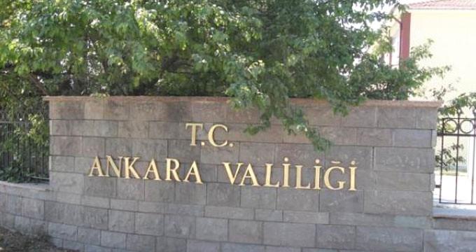 Ankara Valiliği: 30 Kasım'a Kadar Yasakladı