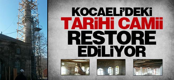 Tarihi Tepecik Camii restore ediliyor