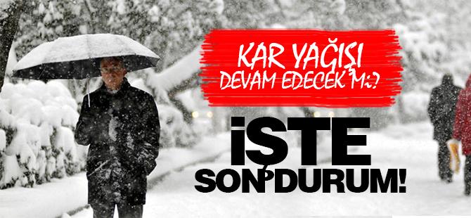 Kocaeli'de kar yağışı devam edecek mi?