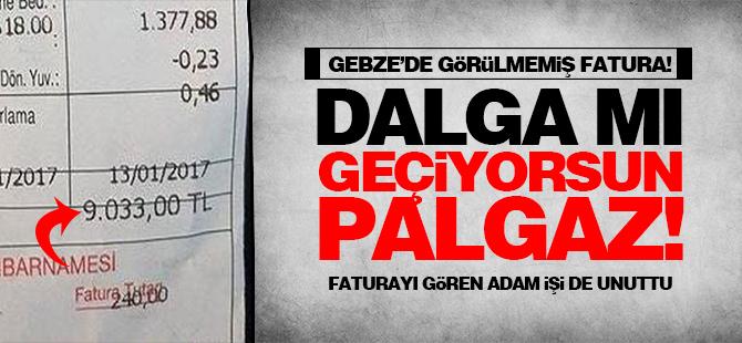 Gebze'de bir eve gelen doğalgaz faturası şok etti!