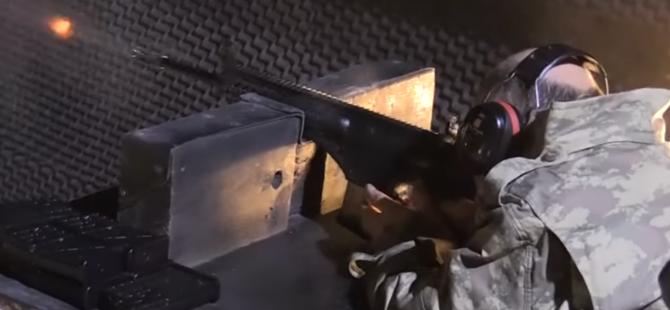 Bakan Işık Milli Piyade Tüfeği ile test atışı yaptı
