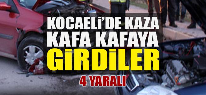 Kocaeli'de kaza: Kafa kafaya girdiler