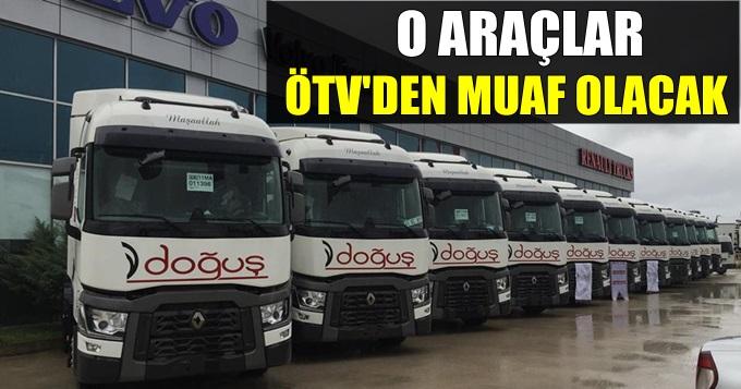 O araçlar ÖTV'den muaf olacak