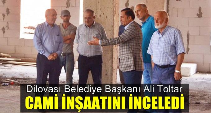 Başkan Toltar, cami inşaatını inceledi