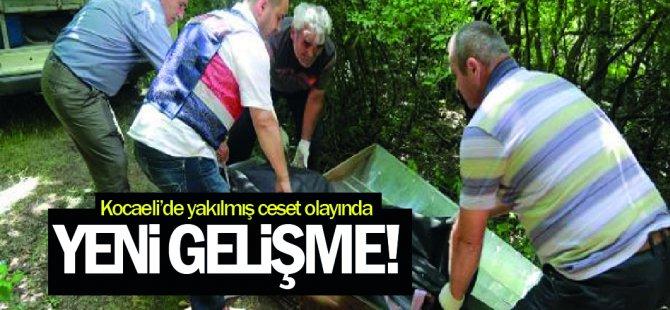 Kocaeli'de Yakılmış ceset olayında yeni gelişme